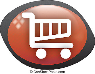 cart oval red icon