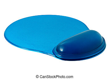 Ergonomic mouse pad with wrist rest isolated on the white...