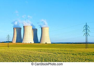 nuclear power plant - Nuclear power plant, Dukovany, Czech...
