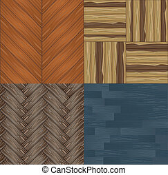 Set of seamless wooden textures
