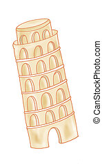 Leaning Tower of Pisa - tower pisa architecture, distorted