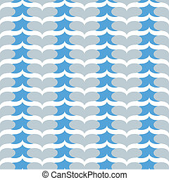 seamless blue heart chevron pattern - unique blue and gray...