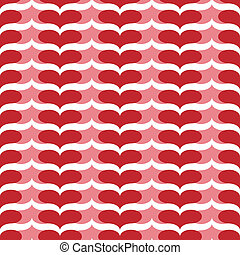 seamless pink and red heart chevron