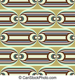 seamless oval slide pattern - groovy horizontal pattern