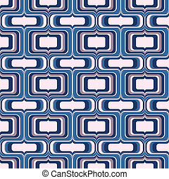 seamless screen drop pattern - groovy vector in crisp blues...