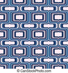 seamless screen drop pattern - groovy vector in crisp blues...