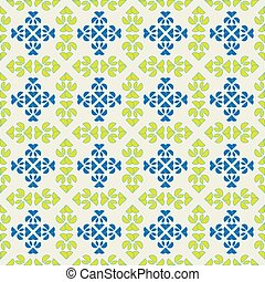 seamless spanish tiles - old-fashioned tile vector in blue...