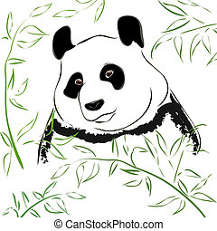 Panda bear. Vector Illustration