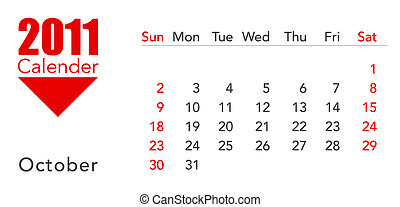 calendar - a 3d maded calendar for the year 2011