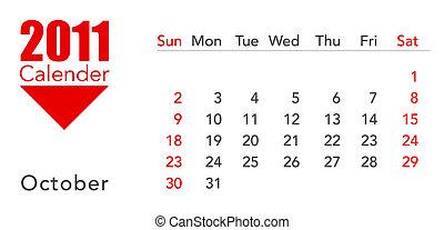 calendar - a 3d maded calendar for the year 2011