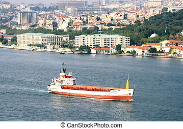 Tanker Ship in Bosporus