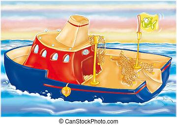 vessel in the sea