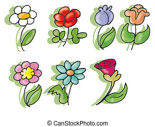 flowers - different colored flowers