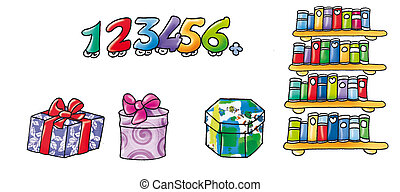 library and gifts - Library Gifts, animated numbers