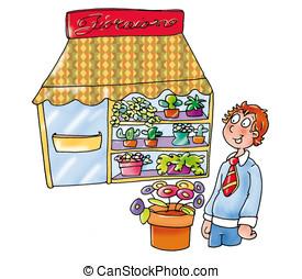 Illustrations de fleuriste 5 271 images clip art et - Fleuriste dessin ...