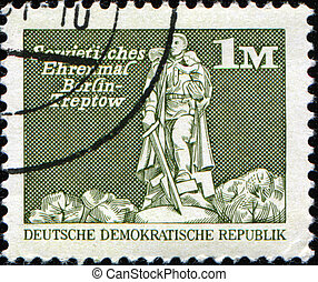 Berlin, Treptow - GERMANY- CIRCA 1974: A stamp printed in...