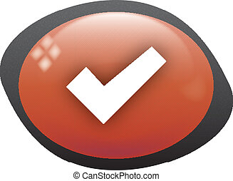 confirm oval red icon