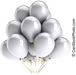 Party balloons total white - Party balloons white grey...