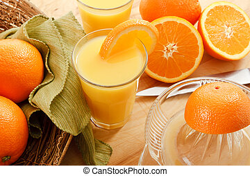 Fresh Squeezed Orange Juice - Rise and Shine - it's time to...