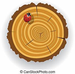 vector wooden cut clip-art