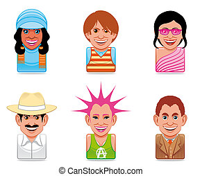 Avatar people icons  -  Avatar people icons
