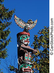 Totem shaped in Stanley park