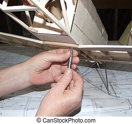 Building Tiger Moth - Building a model plane out of balsa...
