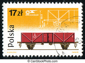 postage stamp - POLAND - CIRCA 1985: stamp printed by...