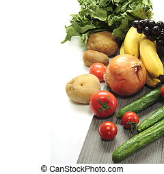 Vegetable on white background - Food image