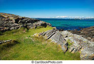 norway sea meer nature water blue sky