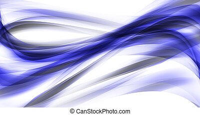 Illustration of dark blue abstract lines and curves