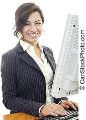 business woman smile beautiful caucasian