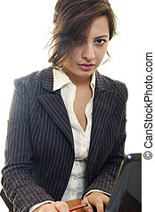 business woman sexyl beautiful caucasian