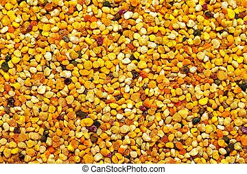 Bee pollen background