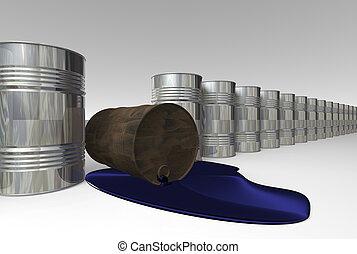 Oil pollution. - Risk of crude oil pollution, conceptual...