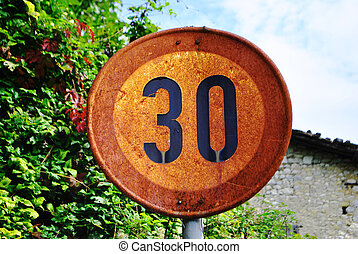 traffic signal limit of 30 km hours