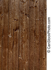 Wooden wall of wooden slats as a backdrop - An old wooden...