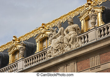 Golden Roof - Golden ornamentation on the roofline of the...