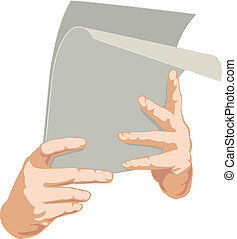 Two hands with paper