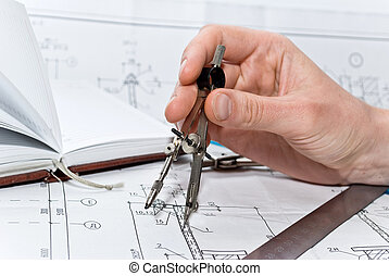 dibujo, vario, herramientas