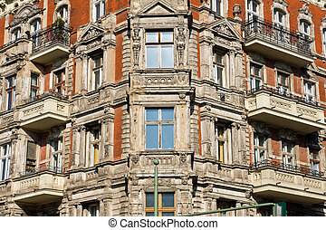 Detail of an old town house in Berlin