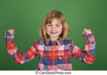 young girl portrait on a green screen - photo young girl...