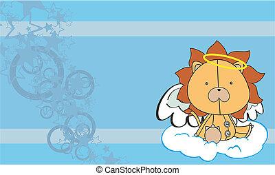 lion  angel cartoon background