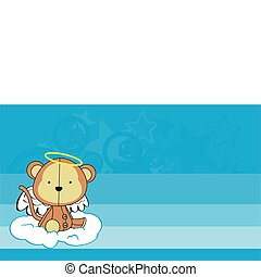 monkey angel cartoon wallpaper in vector format