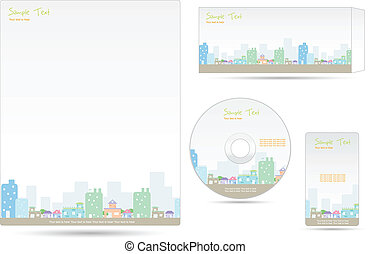 Business Template - illustration of business template with...