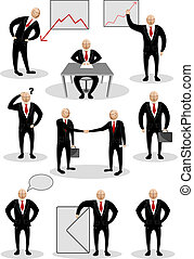Business Person in Different Pose - illustration of...