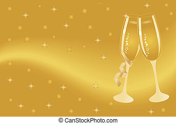Champagne flutes for celebration - Champagne flutes for New...