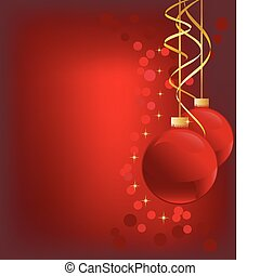 Christmas ornaments - Red Christmas ornaments with gold...
