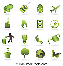 Eco Icon Set - Eco related symbols and icons