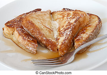 french toast with fork